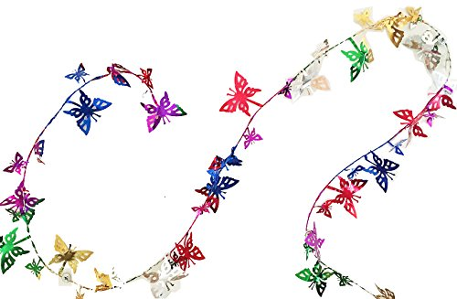 (Forum Novelties Party Multi-Color Butterfly shaped Tinsel Wire Garland)