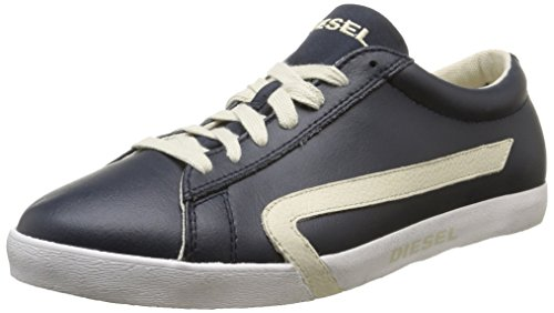 iesel Men's Casual Shoes Bikkren Lace up Sport Leather Fashion Sneakers (12 US / 45 EUR / 29 CM, Blue Nights Birch White)