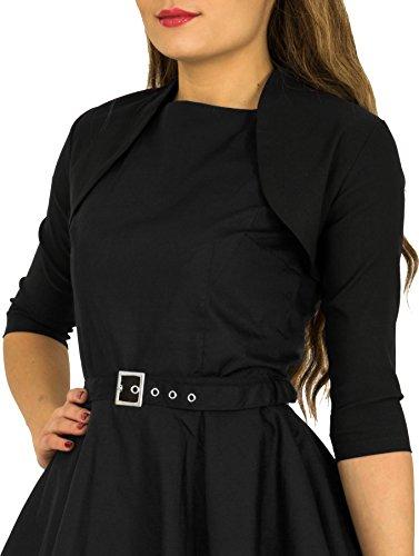 BlackButterfly Tailored 3/4 Sleeve Bolero (Black, US 10) by BlackButterfly