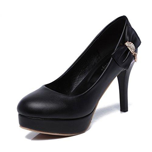 MEI&S Les Talons Aiguilles Femmes Chaussures Bouche Peu Profonde Black 7MEl1