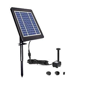 Lewisia 3.5W Solar Fountain Pump for Pool Koi Goldfish Pond Garden Bird Bath Submersible Solar Water Pump Kit