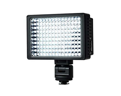 redhoney 160 LED Video Light 5400K-3200K Standard Color Temperature High Power Lamp Panel Dimmable 9W with Universal Hot Shoe Adapter LED lights for Canon, Nikon,Olympus,Pentax DSLR and Camcorders (Led Video Light Lamp Panel compare prices)