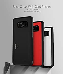 Samsung Galaxy S8 Case, DUX DUCIS Ultra Slim Card Pocket Back Cover Advanced Slip Resistant / Shock Resistant Protective Leather Case with 1 Card Slots Holder for Galaxy S8