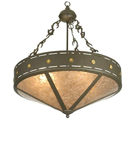 (Meyda Tiffany 26923 Craftsman Target Inverted Pendant, 24