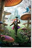 Alice in Wonderland Movie (Mad Hatter, Triptych 2) Poster Print - 22x34 Poster Print, 22x34 Poster Print, 22x34