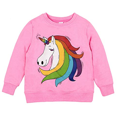 CharmLeaks Little Girls Long Sleeve Horse Shirts Colorful Horse Sweatshirts 5t by CharmLeaks