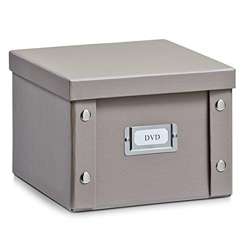 Aufbewahrungsbox Pappe S (DVD-Box) taupe 17661 Aufbewahrungskiste