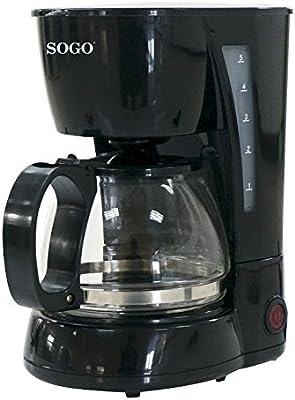 SOGO - Cafetera de Goteo eléctrica para 4 Tazas, 650W, 0,6 L, CAF ...