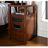 Decorative Infrared Cabinet Space Heater with Table Top Finish: Burnished Walnut