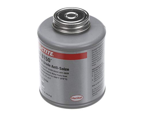 Loctite 76764 Silver LB 8150 Anti-Seize Lubricant, -20 Degree F Lower Temperature Rating to 1600 Degree F Upper Temperature Rating, 1 lb. Brush Top Can