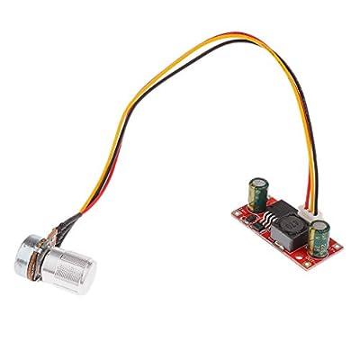 MonkeyJack 6-24V Small DC Electric Voltage Regulator Motor Speed Control Controller NEW