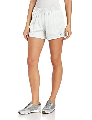 Ladies Mesh Shorts (Champion Women's Mesh Short, White, Large)