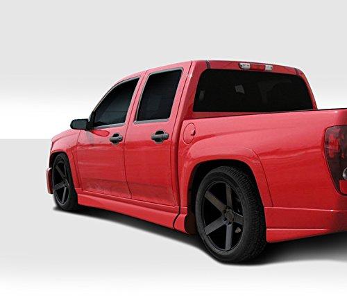 Duraflex Replacement for 2004-2009 Chevrolet Colorado/GMC Canyon Crew Cab BT-1 Side Skirt Rocker Panels - 4 Piece
