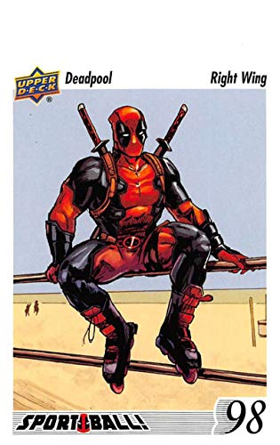 (2019 Upper Deck Deadpool Sport Ball NonSport Trading Card #SB7 1991-1992 Upper Deck Hockey Pavel Bure Parody Official UD Trading Card Celebrating)