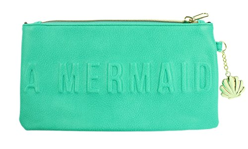 Price comparison product image Disney Little Mermaid I'm Actually A Mermaid Teal Debossed Clutch