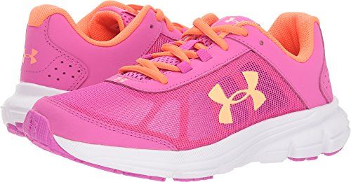 Under Armour Girls' Grade School Rave 2 Sneaker 502/Fluo Fuchsia, 3.5 by Under Armour (Image #3)