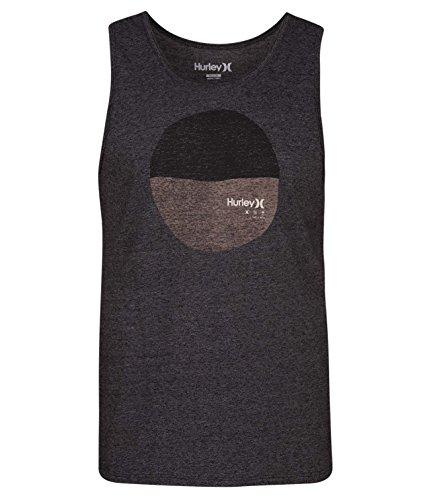 Hurley Men's Apparel Men's Triblend Blotter Tank Top, Black/Wolf Grey, XL by Hurley Men's Apparel