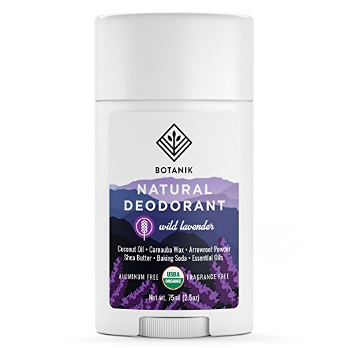 Botanik Natural Deodorant for Women - Organic - Aluminum Free - Vegan - Chemical Free - Wild Lavender - 2.5 oz