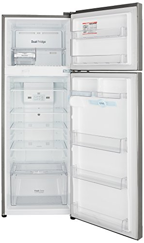 LG 308 L 4 Star Inverter Frost Free Double Door Refrigerator(GL-T322RPZX, Shiny Steel, Convertible) 2021 July Frost free refrigerator: Auto defrost function to prevent ice-build up Capacity 308 L: Suitable for families with 3-4 members | freezer capacity: 75L, fresh food capacity: 233L Energy Rating: 3 Star