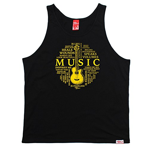Price comparison product image BM Music Is My Life Guitar Design Band Tank Acoustic Electric Bass Drums Drummer Mic Album Record Lyrics Birthday Gift Christmas Present VEST TOP