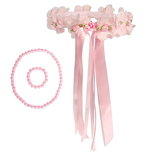 Used, kilofly Flower Girls Wedding Floral Wreath Headpiece for sale  Delivered anywhere in Canada