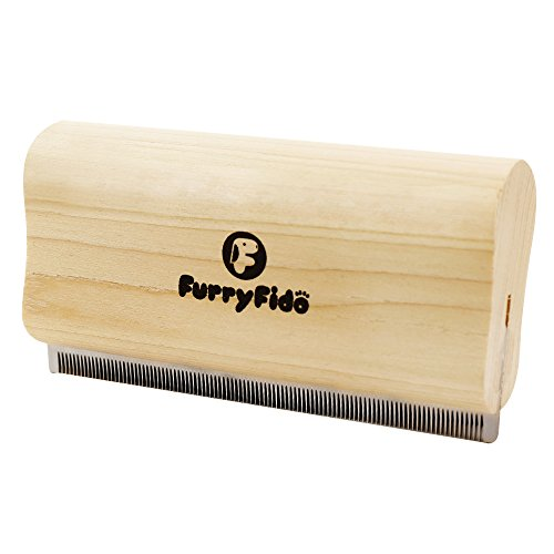Deshedding Tool/brush/comb By Furryfido New Design Effective Wooden Grooming/trimming Tool/rake For