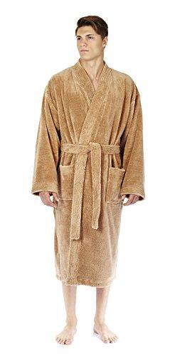 b1f6e381cd Arus Men s Kimono Fleece Bathrobe Turkish Soft Plush Robe