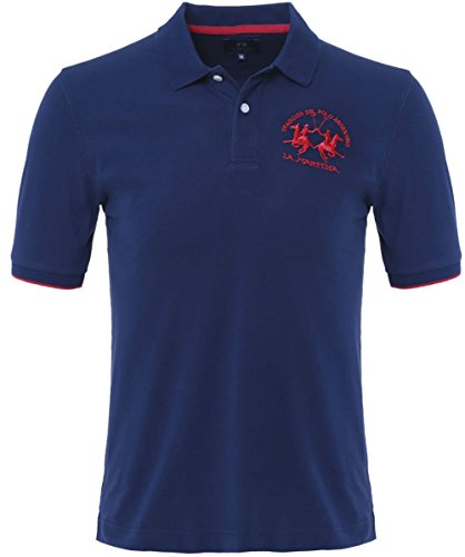 la-martina-plain-polo-shirt-navy-xxl