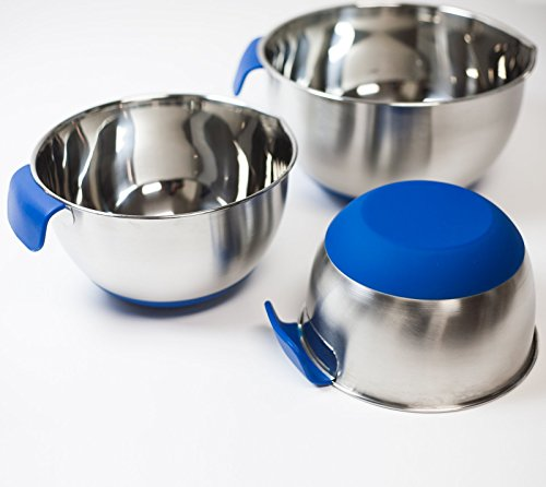 3 Piece Stainless Steel Mixing Bowl