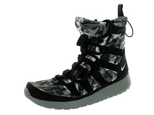 Nike Womens Wmns Roshe One Hi Print, Nero / Puro Platino-cool Grigio-grigio Scuro Nero / Puro Platino-cool Grigio-grigio Scuro