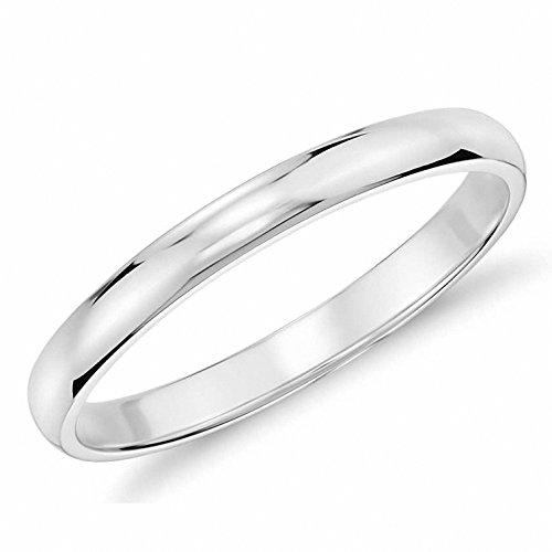 Queenwish Polished Tungsten Wedding Comfort