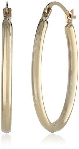 Target 14k Yellow Gold Polished Oval Hoop Earrings
