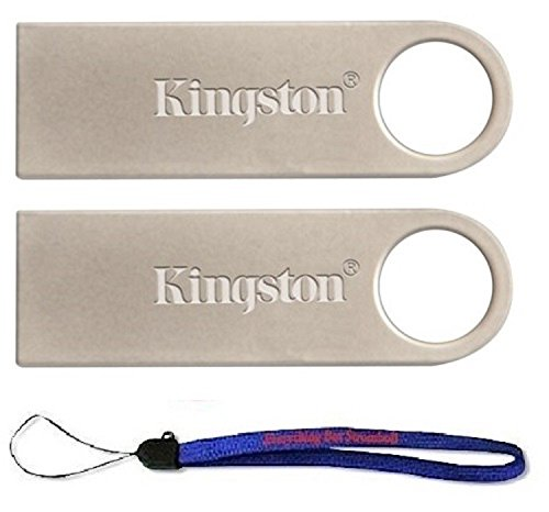 Kingston (TM) Digital DataTraveler SE9 16GB USB 2.0 (DTSE9H/16GB) 16GB (2 pack) Flash Drive Pen Drive – w/ (1) Everything But Stromboli (TM) Lanyard