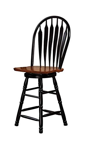 Sunset Trading Swivel Barstool, 24 , Antique Black Cherry