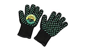 Campfire Defender Protect Preserve Fireside Thermal Resistant Gloves - Fire Resistant Up to 932F - Great for BBQ or Kitchen Cooking!
