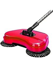 مكنسة كهربائية دوارة لتنظيف الأرضيات المنزلية بدون كهرباء