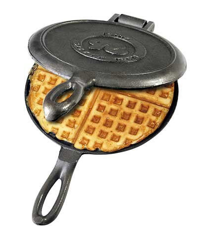 Rome Industries 1100 Old Fashioned Waffle Cast Iron, Black