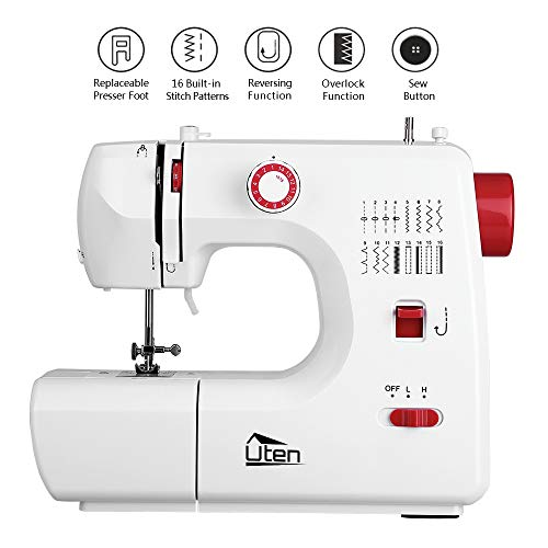 Kranich Sewing Machine 2 Speed 16 Stitches Double Thread Needle Portable Sewing Machine 24W