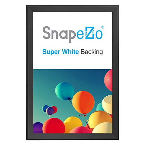- SnapeZo Movie Poster Frame 27x40 Inches, Black 1.7 Inch Aluminum Profile, Front-Loading Snap Frame, Wall Mounting, Wide Series for One Sheet Movie Posters