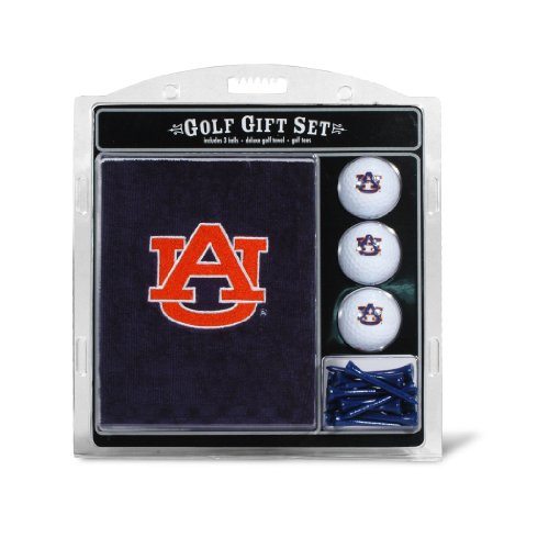 (Team Golf NCAA Auburn University Tigers Gift Set Embroidered Golf Towel, 3 Golf Balls, and 14 Golf Tees 2-3/4