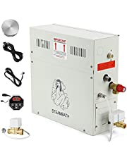 CGOLDENWALL 6KW Steam Generator Home Luxury Steam Shower System Shower 35-55℃ Sauna Bath with Waterproof Control for Home Hotel SPA Suitable for 6m³ Space 110V/220V