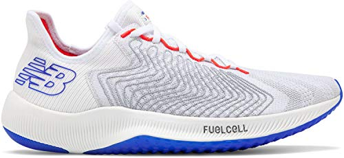(New Balance Men's FuelCell Rebel Running Shoe, White/Multicolor, 12 D US )