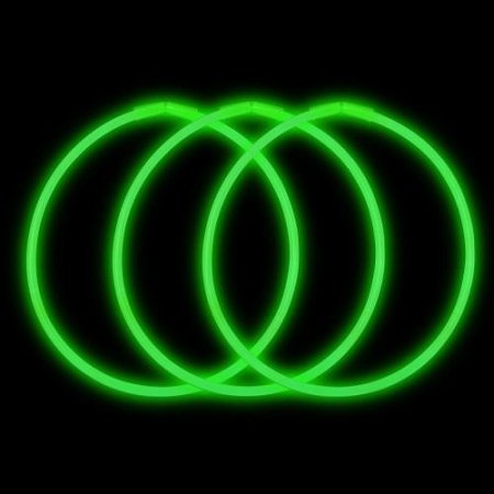 GlowUP 22'' Premium Glow Necklaces Green (50 per Pack)