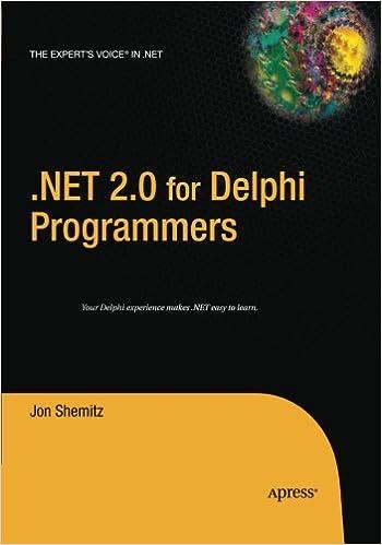 .NET 2.0 for Delphi Programmers ISBN-13 9781484220108