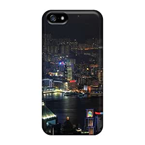 High Impact Dirt/shock Proof Case Cover For Iphone 5/5s (big City Nights) by runtopwell