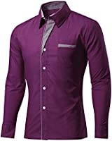 AvaCostume Men's Casual Business Long...