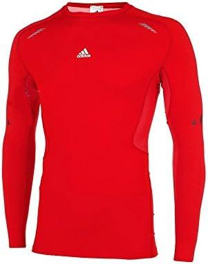 Aumentar Caña Mm  Adidas Techfit Preparation Long Sleeve Compression Shirt, Men, red ...