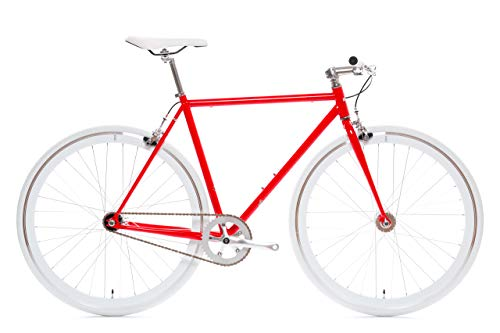 Hanzo Core-Line State Bicycle | Fixie Single Sped Fixed Gear Bike - Hanzo (Red) Large (58 cm)