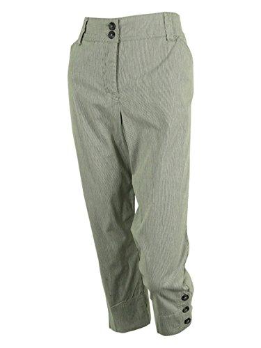 Seersucker Crop Pants - Charter Club Women's Seersucker Classic Fit Crop Pants (12P, Deep Black)