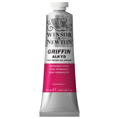 Winsor & Newton Griffin Alkyd Fast Drying Oil Colour Paint, 37ml tube, Permanent Rose